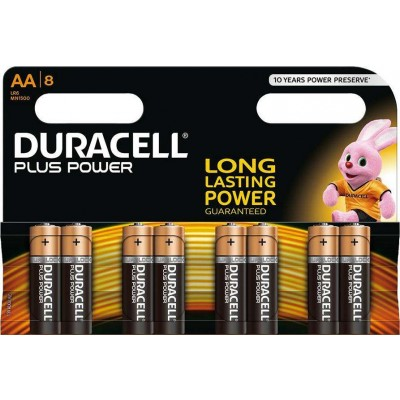 Duracell Plus Power MN1500 Alkaline AA 8 pcs