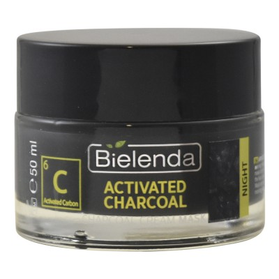 Bielenda Activated Charcoal Cream Mask Night 50 ml