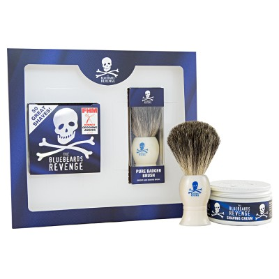 The Bluebeards Revenge Shaving Cream & Badger Kit 100 ml + 1 stk