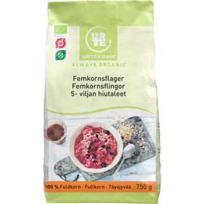 Urtekram 5- viljan hiutaleet luomu 750 g