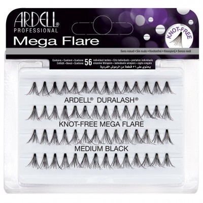 Ardell Individual False Lashes Medium Mega Flare Black 56 st