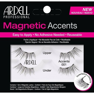 Ardell Magnetic Accents Lashes 001 Black 2 pairs