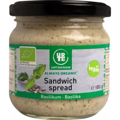 Urtekram Sandwich Spread Basilikum Øko 180 g