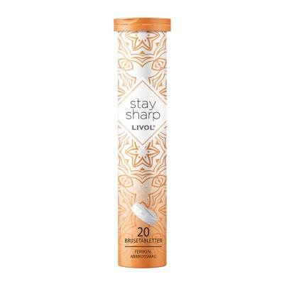 Livol Stay Sharp Bruistabletten Peach & Apricot 20 st