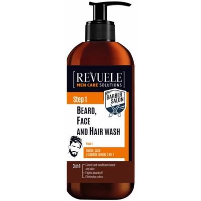 Revuele Men Step 1 3in1 Beard, Face & Hair Wash 300 ml