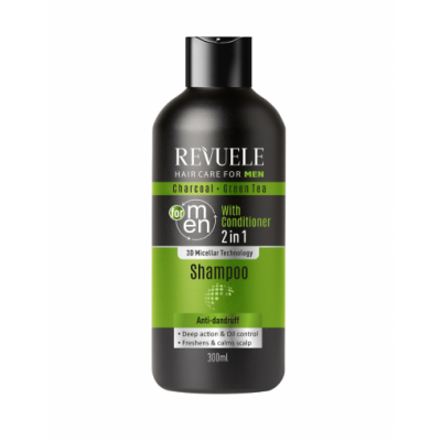 Revuele Men 2in1 Charcoal & Green Tea Shampoo 300 ml