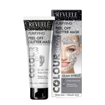 Revuele Purifying Peel Off Glitter Mask Silver 80 ml