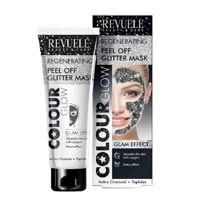 Revuele Regenerating Peel Off Glitter Mask Black 80 ml