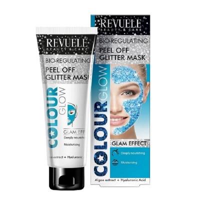 Revuele Bio-Regulating Peel Off Glitter Mask Blue 80 ml
