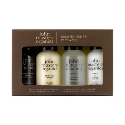 John Masters Organics Hair & Body Essential Trial Set 4 x 30 ml