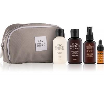 John Masters Organics Essential Travel Kit Normal Hair 2 x 60 ml + 30 ml + 3 ml + 1 kpl