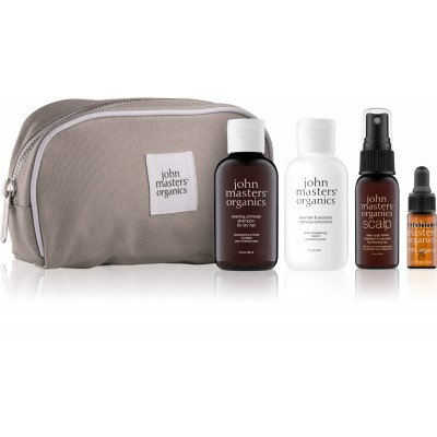 John Masters Organics Essential Travel Kit Dry Hair 2 x 60 ml + 30 ml + 3 ml + 1 pcs