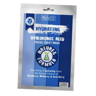 Beauty Formulas Hydrating Hyaluronic Sheet Mask 1 kpl
