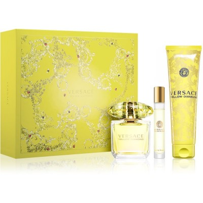 Versace Yellow Diamond EDT & Rollerball & Body Lotion 90 ml + 10 ml + 150 ml
