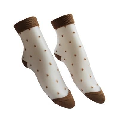 Everneed Cerise Stockings Mocca Dot One Size