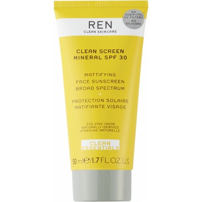 REN Clean Screen Mineral Mattifying Face SPF30 50 ml