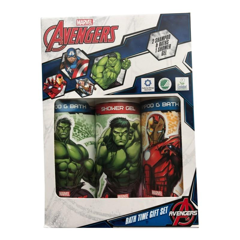 Marvel Avengers Bath Time Gift Set 300 ml + 2 x 200 ml ...