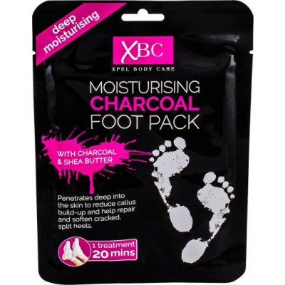 XBC Moisturising Charcoal Foot Pack 1 par