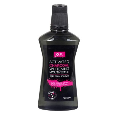 XOC Activated Charcoal Whitening Mouthwash 500 ml