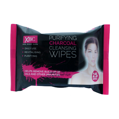 XBC Purifying Charcoal Cleansing Wipes 25 stk