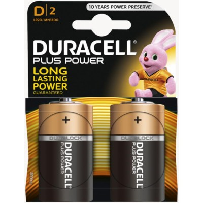 Duracell Plus Power D 2 stk