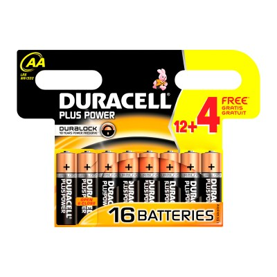 Duracell AA Duralock Plus Power 16 kpl