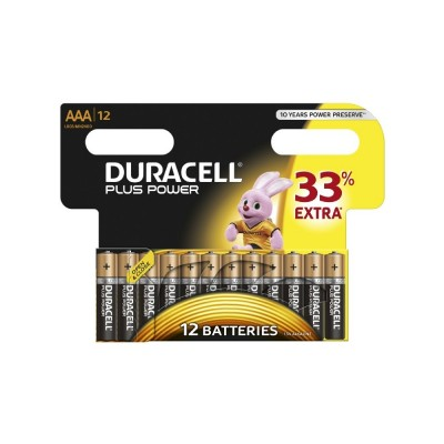 Duracell AAA Plus Power 12 stk