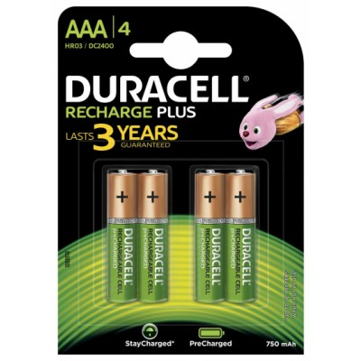 Duracell AAA Recharge Plus 4 pcs
