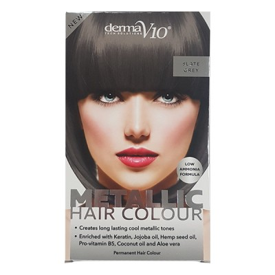 DermaV10 Metallic Hair Colour Slate Grey 1 pcs