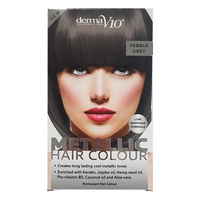 DermaV10 Metallic Hair Colour Pebble Grey 1 kpl
