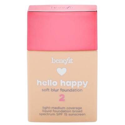 Benefit Hello Happy Soft Blur Foundation 02 Light Warm 30 ml