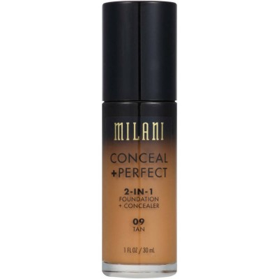 Milani Conceal + Perfect 2in1 Foundation + Concealer 09 Tan 30 ml