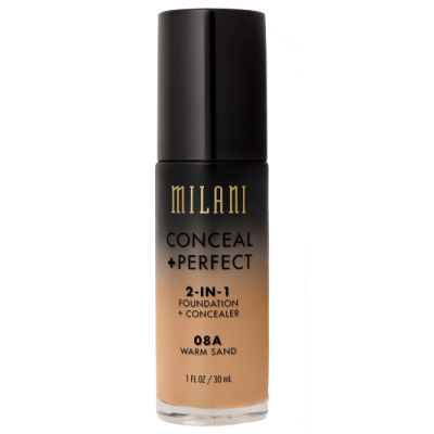 Milani Conceal + Perfect 2in1 Foundation + Concealer 08A Warm Sand 30 ml