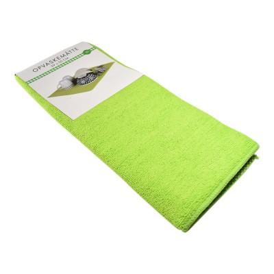 BasicsHome Dishwashing Mat Green 39 cm x 50 cm