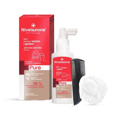 Nivelazione Skin Therapy Pure Anti-Lice & Nits Liquid 100 ml + 2 stk