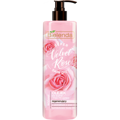 Bielenda Super Skin Diet Velvet Rose Regenerating Bath Oil 400 ml