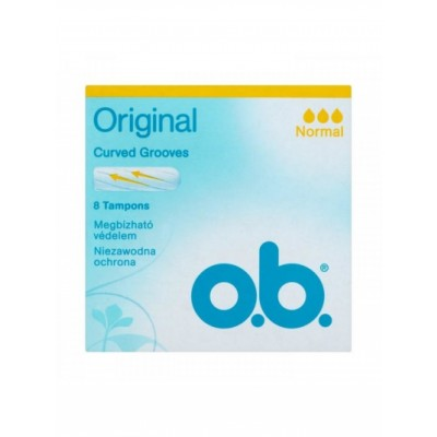 O.B. Original Curved Grooves Normal 8 pcs