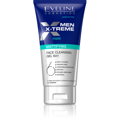 Eveline Men X-Treme Mattifying Face Cleansing Gel 150 ml