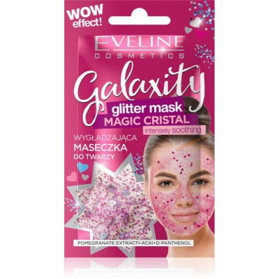 Eveline Galaxity Glitter Mask Pomegranate & Acai 10 ml