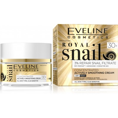 Eveline Royal Snail Smoothing Day & Night Cream 30+ 50 ml