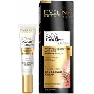 Eveline Royal Caviar Therapy Eye & Eyelid Cream 50+/70+ 15 ml