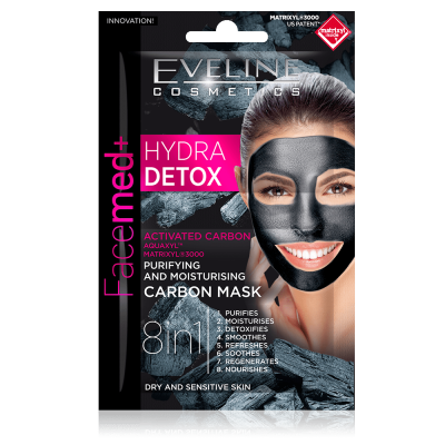 Eveline Facemed+ Hydra Detox Carbon Mask Dry & Sensitive Skin 2 x 5 ml