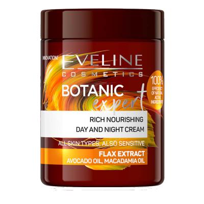 Eveline Botanic Expert Nourishing Flax Extract Day & Night Cream 100 ml