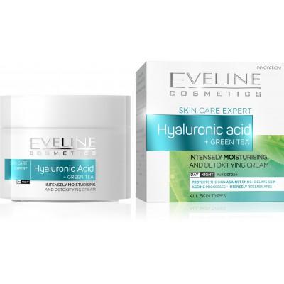 Eveline Hyaluronic Acid + Green Tea Moisturising Cream 50 ml