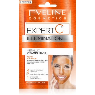 Eveline Expert C Metallic Vitamin Face Mask 2 x 5 ml