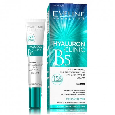 Eveline Hyaluron Clinic Anti-Wrinkle Eye & Eyelid Cream 20 ml