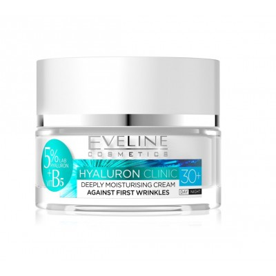 Eveline Hyaluron Clinic Moisturising Day & Night Cream 30+ 50 ml