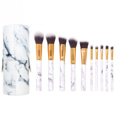 Basics Makeup Brush Set White Marble 12 st