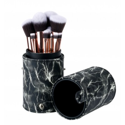 Basics Makeup Brush Set Black Marble 12 stk