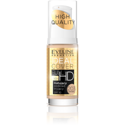 Eveline Ideal Cover Matt & Covering Foundation 203 Natural 30 ml